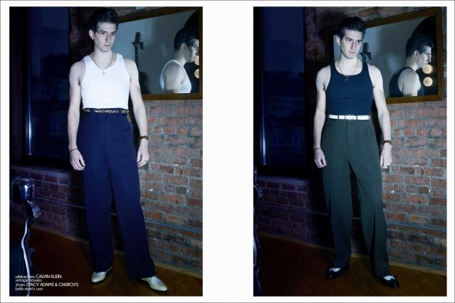 New York City barber/musician Keith Cayea for Ponyboy, photographed by Alexander Thompson - spread #3.