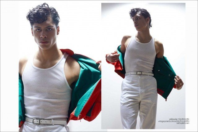 Xavier Lugo from State Management photographed for Ponyboy by Alexander Thompson - spread 1.