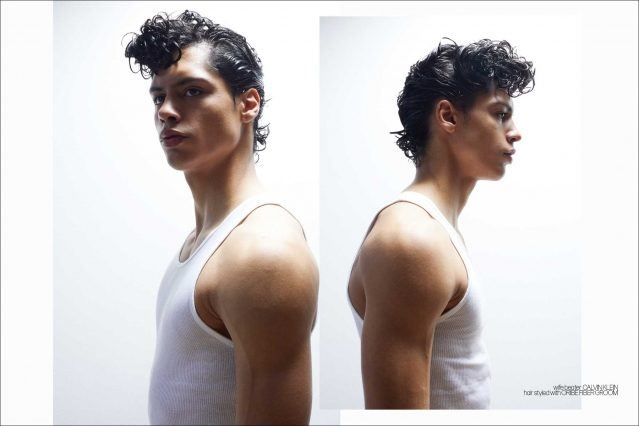 Xavier Lugo from State Management photographed for Ponyboy by Alexander Thompson - spread 2.