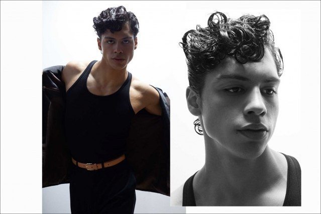 Xavier Lugo from State Management photographed for Ponyboy by Alexander Thompson - spread 4.