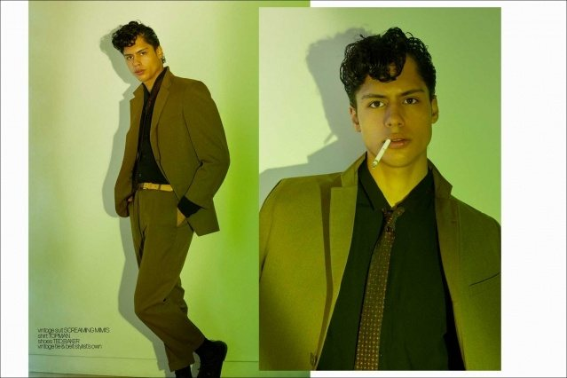 Xavier Lugo from State Management photographed for Ponyboy by Alexander Thompson - spread 5.