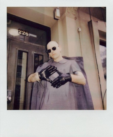 Lord Warg in vintage Comme des Garcons for Ponyboy. Polaroid by Alexander Thompson.