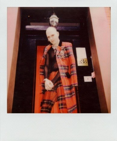 Lord Warg in vintage Jean Paul Gaultier for Ponyboy. Polaroid by Alexander Thompson.