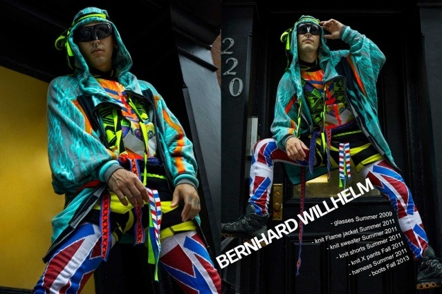 Lord Warg photographed in vintage Bernhard Willhelm for Ponyboy. Photography by Alexander Thompson.