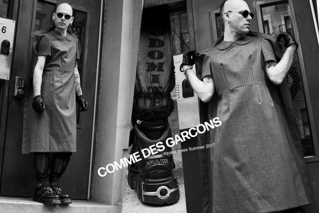 Lord Warg photographed in vintage Comme des Garcons for Ponyboy. Photography by Alexander Thompson.
