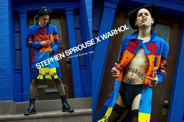 Lord Warg photographed in vintage Stephen Sprouse X Warhol for Ponyboy. Photography by Alexander Thompson.