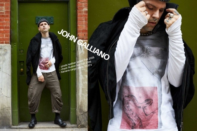 Lord Warg photographed in vintage John Galliano for Ponyboy. Photography by Alexander Thompson.
