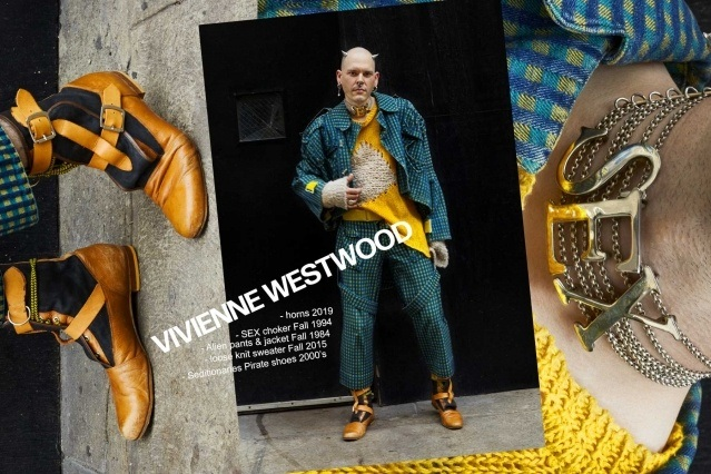 Lord Warg photographed in vintage Vivienne Westwood jacket & pants for Ponyboy. Photography by Alexander Thompson.