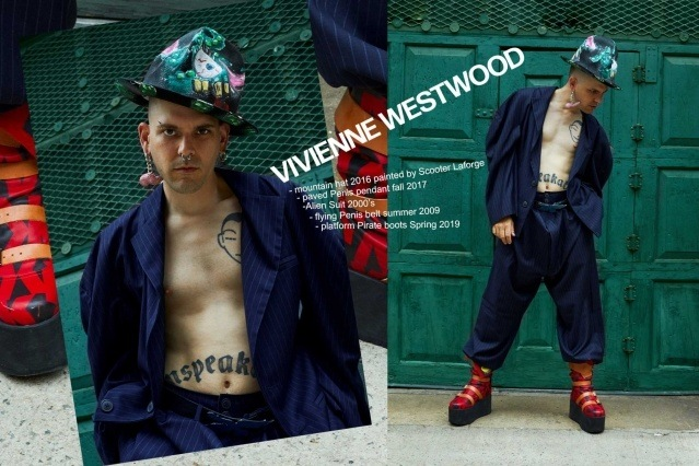 Lord Warg photographed in vintage Vivienne Westwood for Ponyboy. Photography by Alexander Thompson.