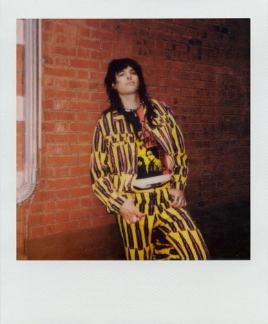 Lord Warg in vintage Stephen Sprouse for Ponyboy. Polaroid by Alexander Thompson.