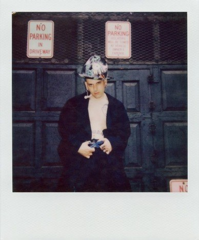 Lord Warg in vintage Vivienne Westwood for Ponyboy. Polaroid by Alexander Thompson.