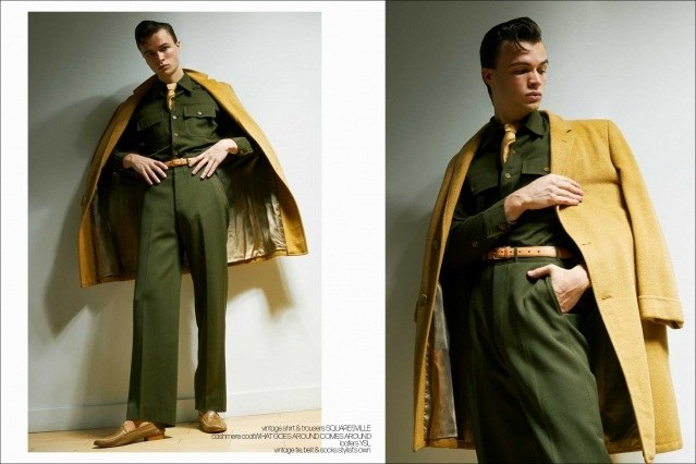Model Ashton Smith from State Management for Ponyboy magazine, photographed & styled by Alexander Thompson. Spread #1.