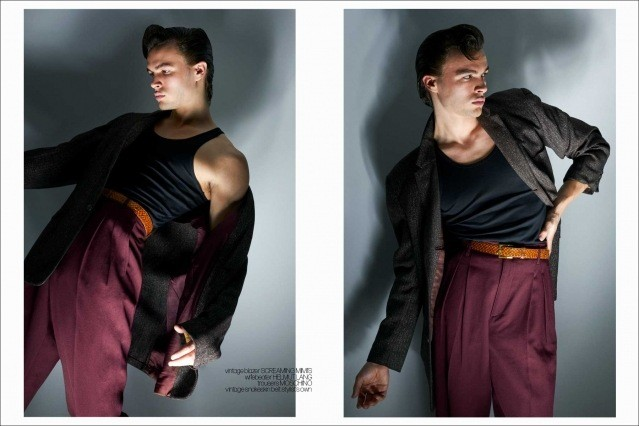 Model Ashton Smith from State Management for Ponyboy magazine, photographed & styled by Alexander Thompson. Spread #3.
