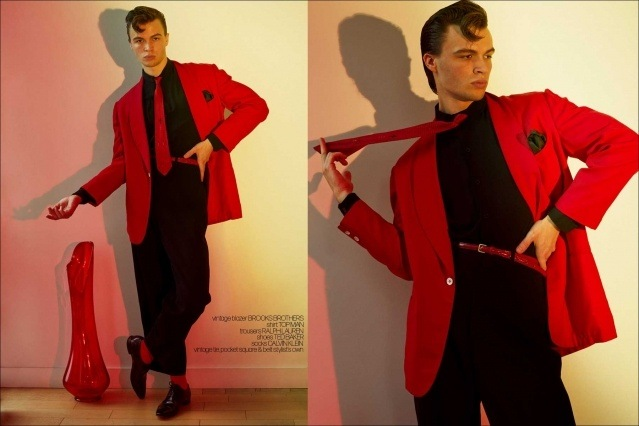 Model Ashton Smith from State Management for Ponyboy magazine, photographed & styled by Alexander Thompson. Spread #4.