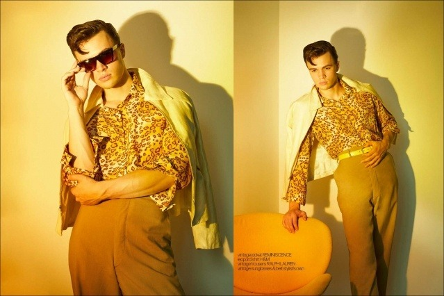 Model Ashton Smith from State Management for Ponyboy magazine, photographed & styled by Alexander Thompson. Spread #5.