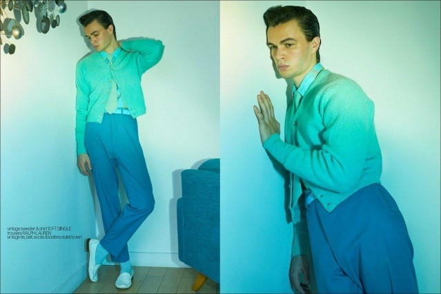 Model Ashton Smith from State Management for Ponyboy magazine, photographed & styled by Alexander Thompson. Spread #6.