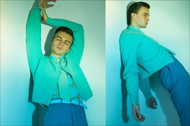 Model Ashton Smith from State Management for Ponyboy magazine, photographed & styled by Alexander Thompson. Spread #7.