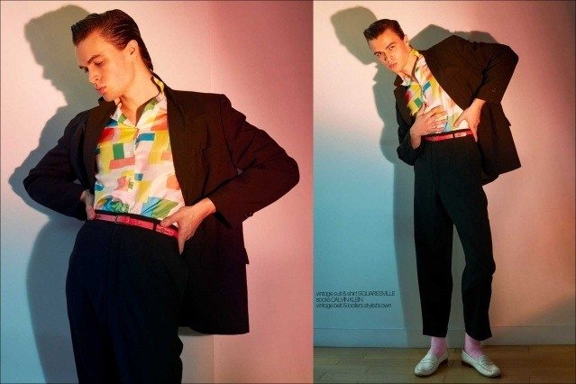 Model Ashton Smith from State Management for Ponyboy magazine, photographed & styled by Alexander Thompson. Spread #8.