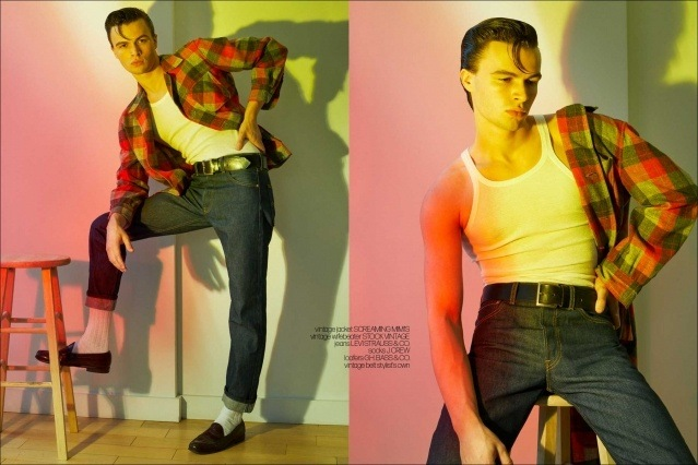 Model Ashton Smith from State Management for Ponyboy magazine, photographed & styled by Alexander Thompson. Spread #9.