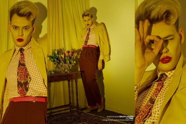 Actor/singer Jack James Busa from UNI, with photography & styling by Alexander Thompson for Ponyboy. Spread 2.