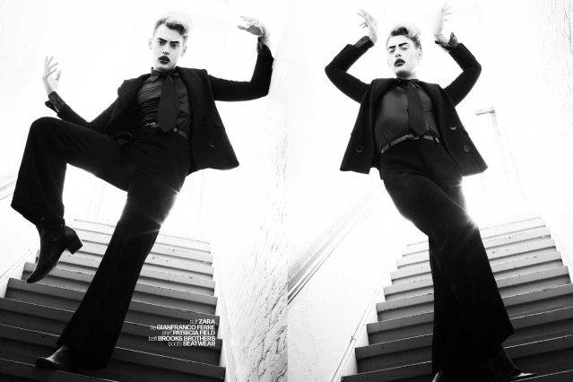 Actor/singer Jack James Busa from UNI, with photography & styling by Alexander Thompson for Ponyboy. Spread 6.