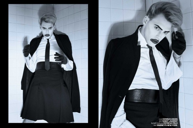 Actor/singer Jack James Busa from UNI, with photography & styling by Alexander Thompson for Ponyboy. Spread 7.