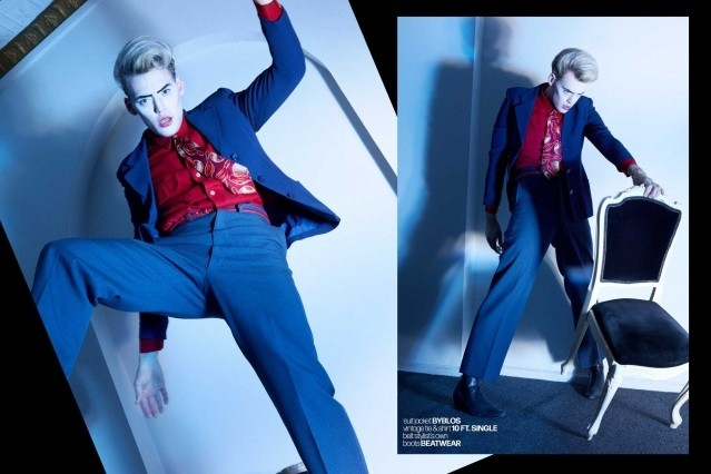 Actor/singer Jack James Busa from UNI, with photography & styling by Alexander Thompson for Ponyboy. Spread 8.