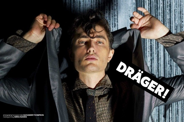 DRÄGER - musician/model Spencer Draeger for Ponyboy. Photographer/menswear stylist Alexander Thompson. Spread 10.