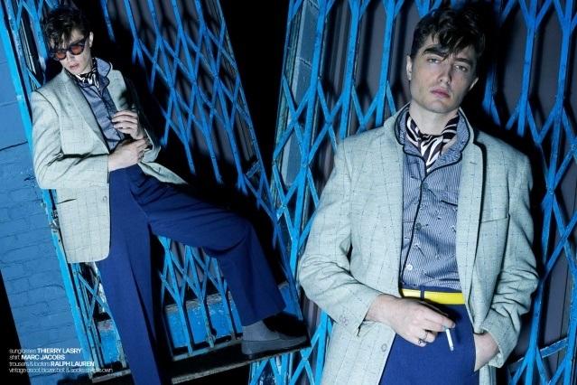 DRÄGER - musician/model Spencer Draeger for Ponyboy. Photographer/menswear stylist Alexander Thompson. Spread 1.