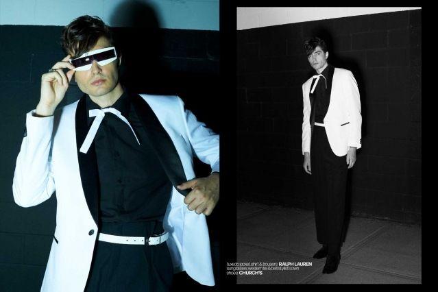 DRÄGER - musician/model Spencer Draeger for Ponyboy. Photographer/menswear stylist Alexander Thompson. Spread 2.