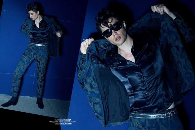 DRÄGER - musician/model Spencer Draeger for Ponyboy. Photographer/menswear stylist Alexander Thompson. Spread 3.