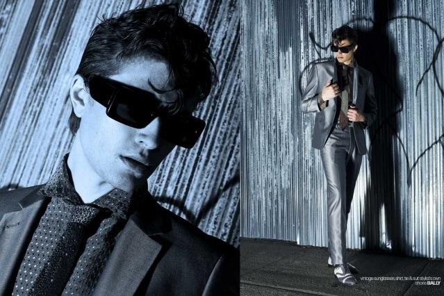 DRÄGER - musician/model Spencer Draeger for Ponyboy. Photographer/menswear stylist Alexander Thompson. Spread 4.