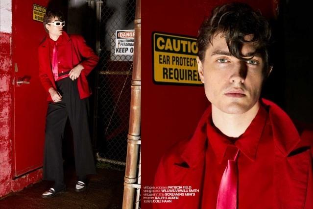DRÄGER - musician/model Spencer Draeger for Ponyboy. Photographer/menswear stylist Alexander Thompson. Spread 6.