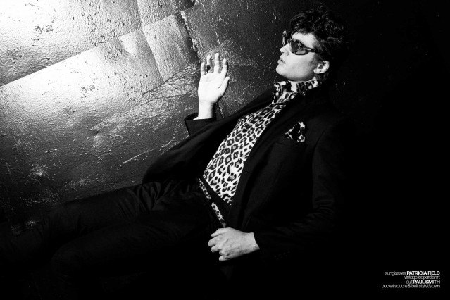 DRÄGER - musician/model Spencer Draeger for Ponyboy. Photographer/menswear stylist Alexander Thompson. Spread 7.