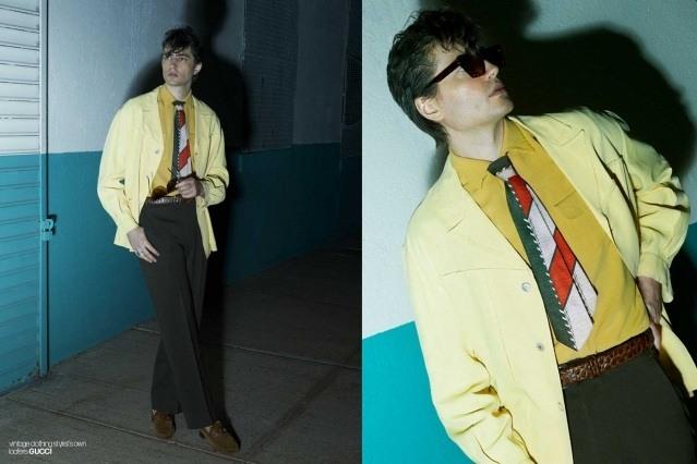 DRÄGER - musician/model Spencer Draeger for Ponyboy. Photographer/menswear stylist Alexander Thompson. Spread 8.