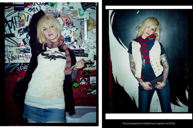 Theo Kogan from Lunachicks band for MissBehave magazine circa 2000s.