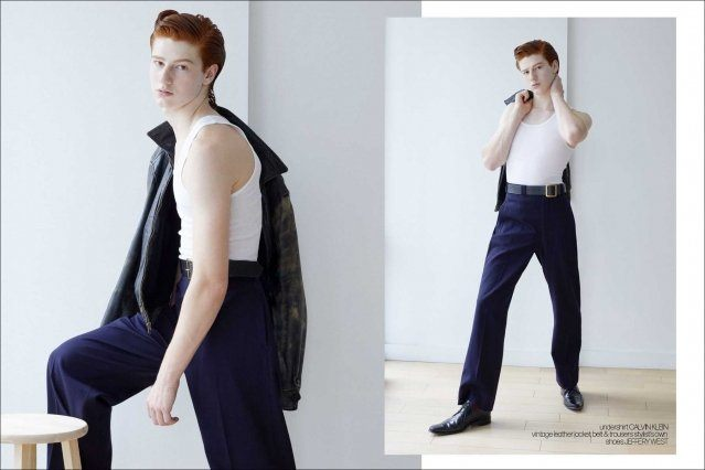 Model Alexander Andresen from Stage Management NY for Ponyboy magazine. Photography and menswear styling by Alexander Thompson. Spread #1.