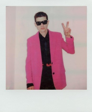 Polaroid of musician Brandon Welchez by Alexander Thompson for Ponyboy.