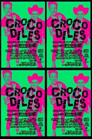Crocodiles tour poster from 2015.