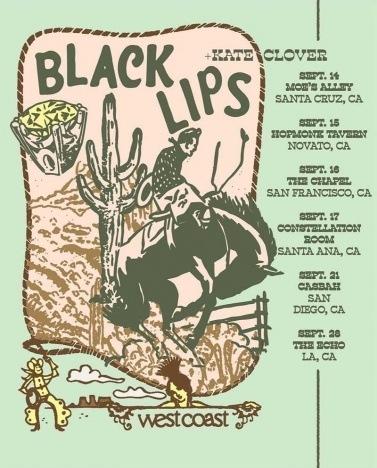 Black Lips/Kate Clover tour poster.