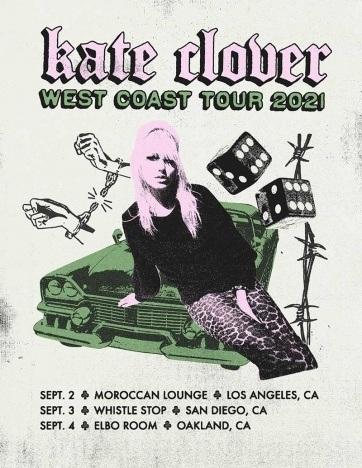 Kate Clover West Coast Tour poster.