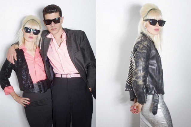 Musicians Kate Clover & Brandon Welchez photographed by Alexander Thompson for Ponyboy in New York City. Spread 4.