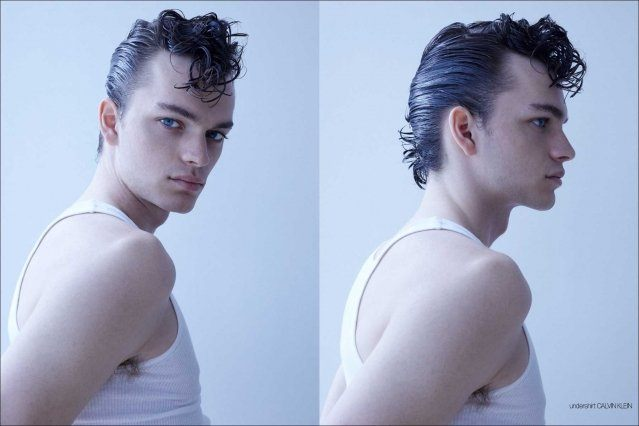 Model Jake Lively from Stage Management New York. Photographed for Ponyboy by Alexander Thompson. Spread #1.