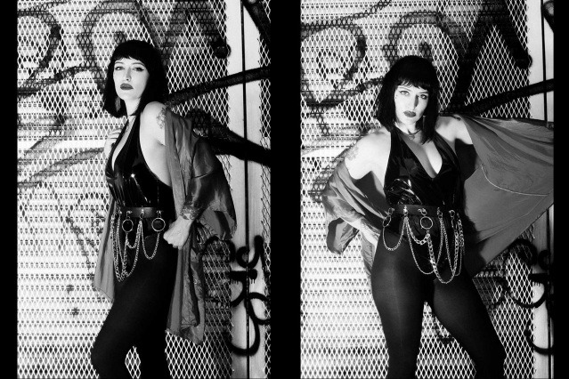 Moan Elisa of the Trash Bags photographed in New York City by Alexander Thompson for Ponyboy. Spread #2.