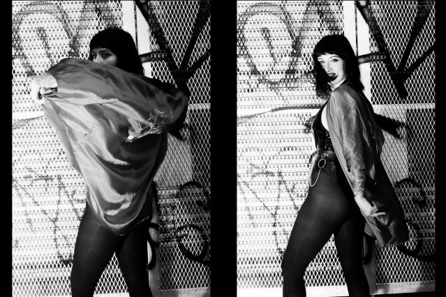 Moan Elisa of the Trash Bags photographed in New York City by Alexander Thompson for Ponyboy. Spread #3.