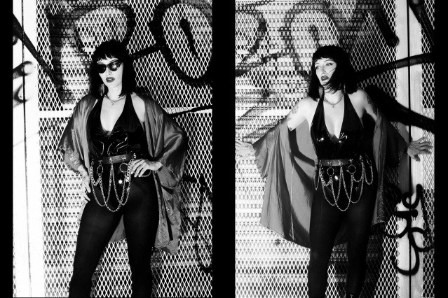 Moan Elisa of the Trash Bags photographed in New York City by Alexander Thompson for Ponyboy. Spread #4.
