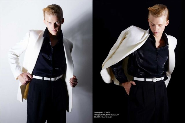 Crawford model Hunter Nance photographed for Ponyboy by Alexander Thompson. Spread #10.