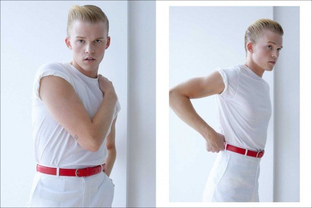 Crawford model Hunter Nance photographed for Ponyboy by Alexander Thompson. Spread #3.