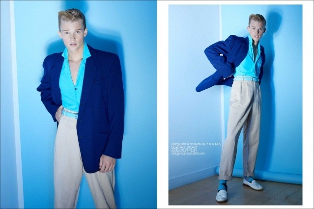 Crawford model Hunter Nance photographed for Ponyboy by Alexander Thompson. Spread #4.