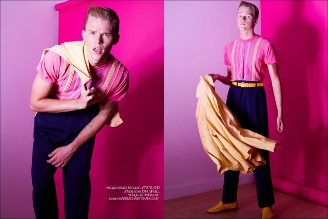 Crawford model Hunter Nance photographed for Ponyboy by Alexander Thompson. Spread #7.